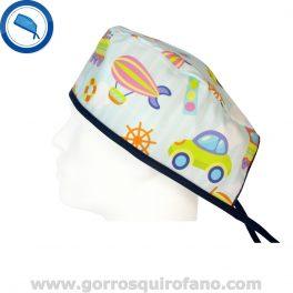 Gorros Quirofano Infantiles Coches - 794
