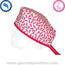 Gorros Quirofano Lazo Cancer Mama Fuxia - 790