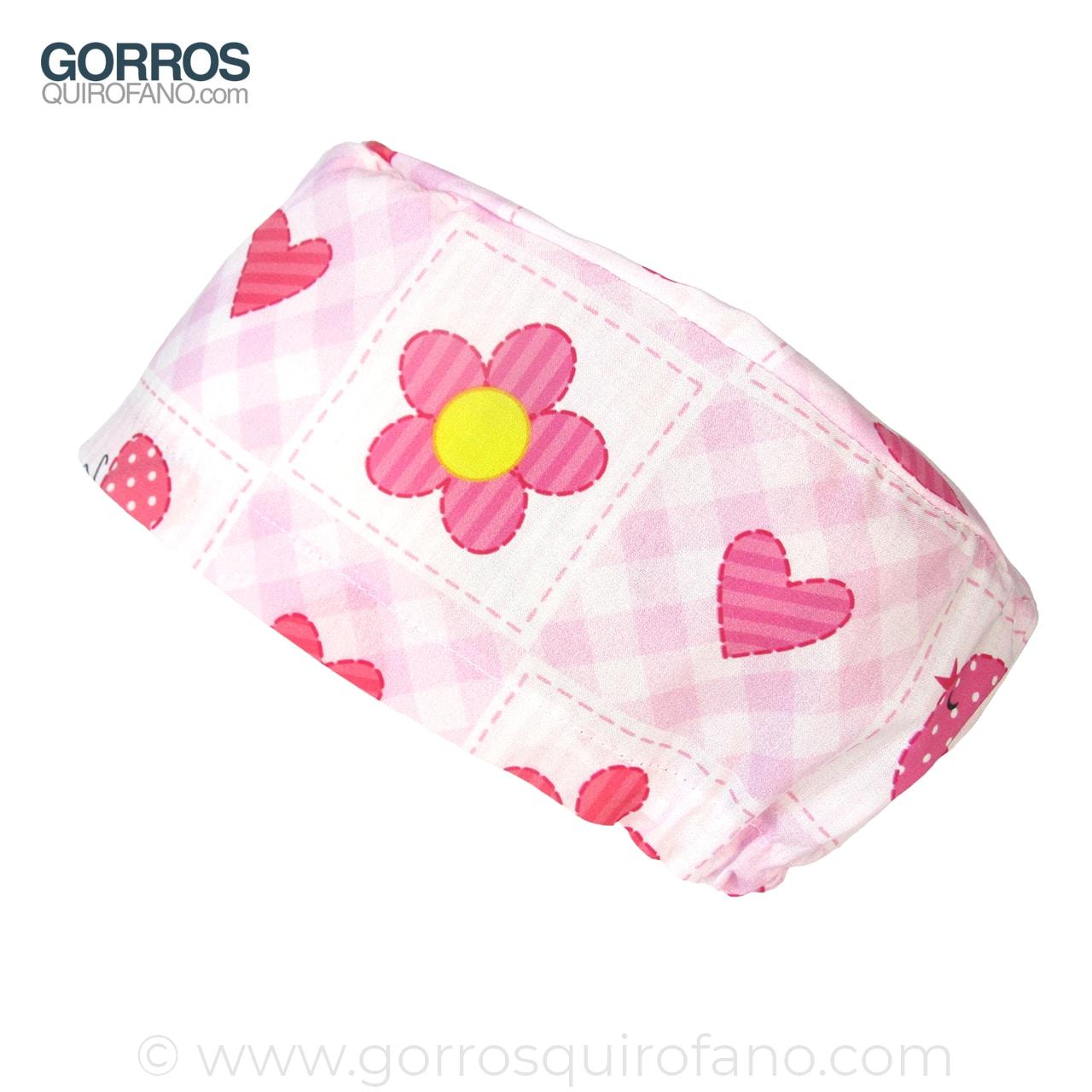 Gorros Quirofano Infantiles Flores Corazones