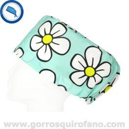 Gorros Quirofano Divertidos Tela Flores - 338