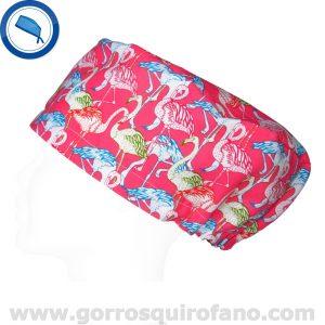 Gorros Quirofano Tela Estampada Mujer Flamencos - 337