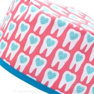 Gorros Sanitarios Dentistas Coral Muelas Corazones - 803a