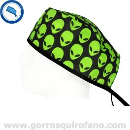 Gorros Quirofano Aliens Verdes - 806