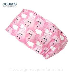 Gorros Quirofano Mujer Cerditos Rosas - 339
