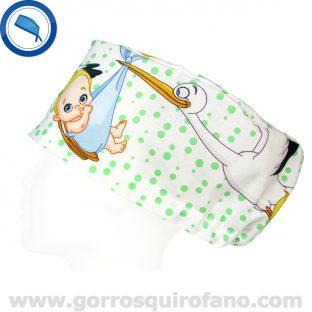 Gorros Quirofano Bebes Cigueñas - 344