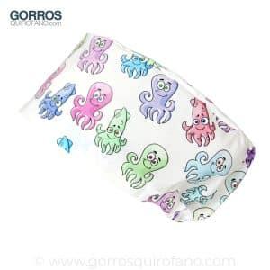 Gorros Quirofano Pulpos Calamares Divertidos Colores - 348