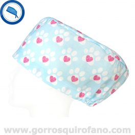 Gorros Veterinarias Huellas Corazon - 347