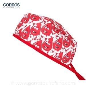 Gorros quirofano gotas de sangre - 809