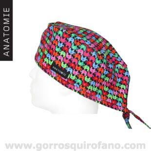 Gorros Quirofano ANATOMIE Elefantes colores ANA045