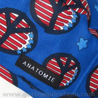 Gorros Quirofano ANATOMIE Simbolo Paz Bandera Americana ANA048 b