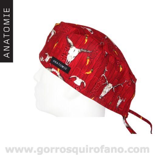 Gorros Quirofano ANATOMIE Western Rojo ANA046