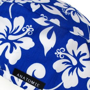 Gorros de Quirofano Hombre ANATOMIE Flores Hawaianas Azul y Blanco ANA054