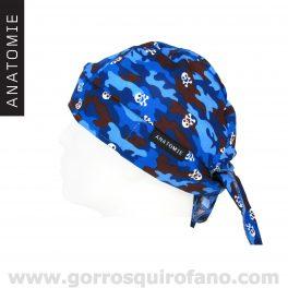 ANATOMIE BANDANA 019 Camuflaje Azul Calaveras