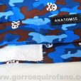 Gorros ANATOMIE BANDANA 019 Camuflaje Azul Calaveras