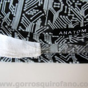 Gorros quirofano Medicos Placa Base Negra - ANA050
