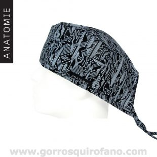 Gorros quirofano Placa Base Negra - ANA050