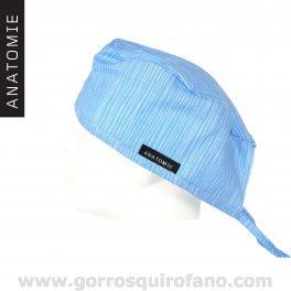 Gorros Quirofano ANATOMIE Lineas Azules Discretos - ANA055