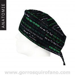 Gorros Quirofano ANATOMIE negro Kiss Me Irish - ANA051
