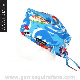 Gorros Quirofano Divertidos ANATOMIE Papa Noel Surf - ANA053