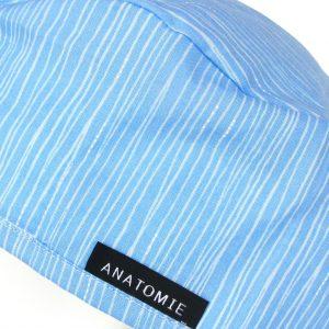 Gorros para Quirofano de tela ANATOMIE Lineas Azules Discretos - ANA055