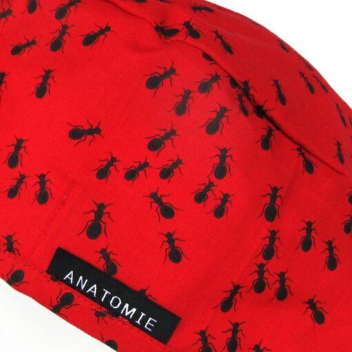 Gorros quirófano rojos ANATOMIE con hormigas - ANA052