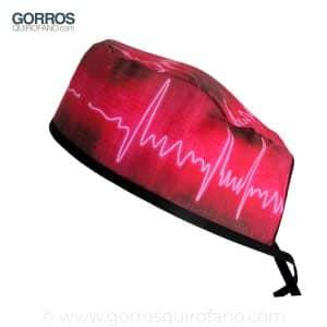 Gorros Quirofano Hombre Electrocardiograma Neon - 820