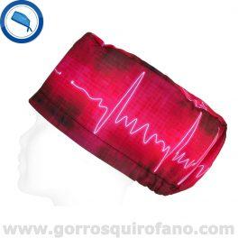 Gorros Quirofano Mujer Tela Electrocardiograma - 354