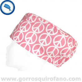 Gorros Quirofano Paz y Amor Rosa - 353