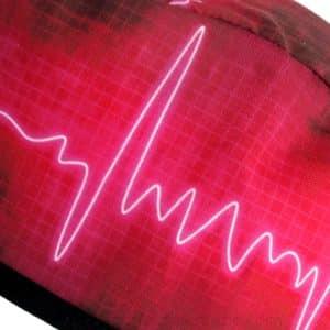 Gorros Quirofano Tela Electrocardiograma Neon - 820