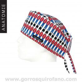 Gorros Quirofano Tela Hombre Soldados Britanicos ANATOMIE ANA057
