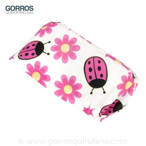 Gorro Medico Mariquitas y Flores Rosas - 359