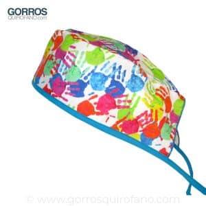Gorro Quirúrgico Pediatras Manos Colores Bebe - 833