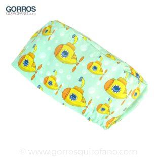 Gorro Quirurgico Submarino Amarillo Fondo Menta - 360