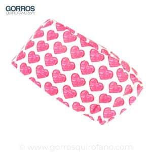 Gorro de Enfermeria Corazones Crayon Rosa - 361