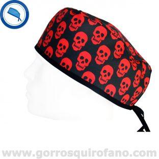 Gorro de Medico Calaveras Rojas - 832