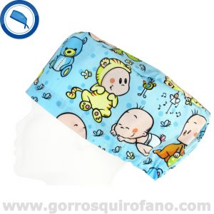 Gorros Enfermeras Bebes Ositos Azules - 364