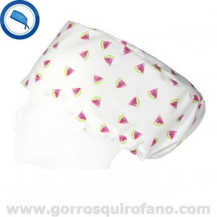 Gorros Quirofano Mujer Tela Sandías Mini - 367