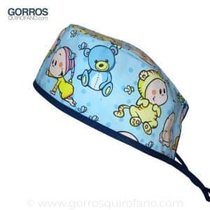 Gorros Pediatria quirofano Bebes Osos Chupete - 837