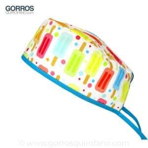 Gorros Quirofano Divertidos Helados de Sabores - 838