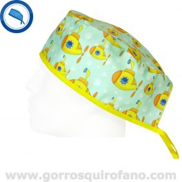 Gorros Quirofano Divertidos Submarino Amarillo de los Beatles - 835