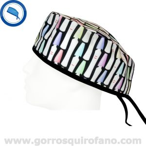 Gorros Quirofano Test de Embarazo Negro - 836