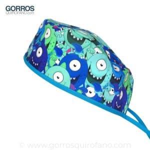 Gorros Quirofano Monstruos Azules Ojos Saltones - 843