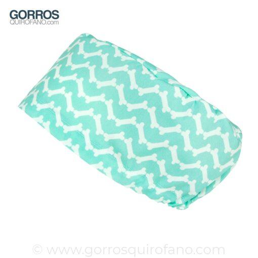 Gorros Quirofano Verde Menta Huesos Chevron - 373