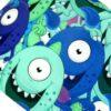 Gorros Cirugía Mujer Monstruos Azules Ojos Saltones - 377b
