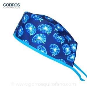 Gorros Quirofano Cerebros Azul Eléctrico Neón - 845