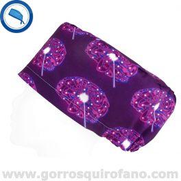 Gorros Quirofano Cerebros Morados Electricos - 376
