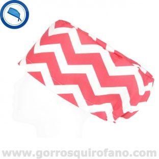 Gorros Quirofano Chevron Coral Blanco Verano - 382