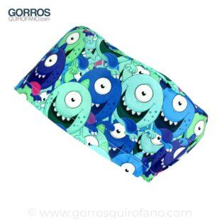 Gorros Quirofano Monstruos Azules Ojos Saltones - 377