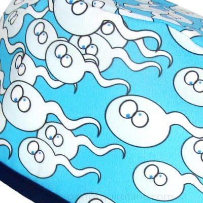 Gorros Quirofano Reproducción Asistida Espermatozoides Divertidos Azul - 848a