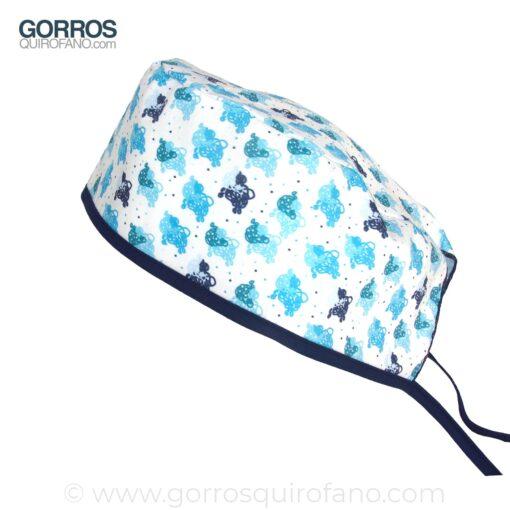 Gorros Quirofano Veterinarios Ovejas Azules - 844